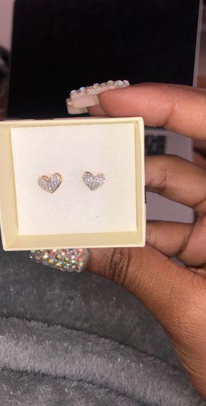 10kt Gold Diamond earrings for Sale in Orlando, FL