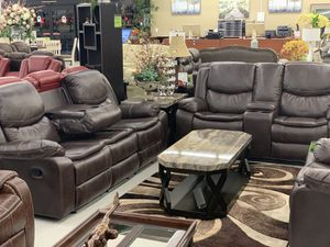 Reclining sofa and loveaseat W/USB CHARGE for Sale in Fresno, CA
