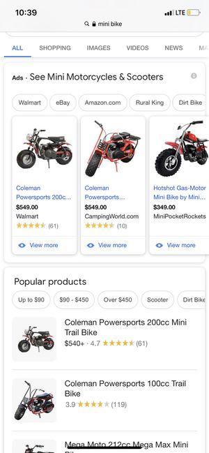 ISO a mini bike or a go kart for Sale in Kansas City, KS