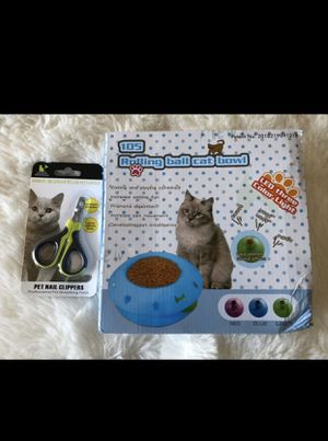 Slow Feeder Bowl And Cat Nail Clipper for Sale in San Bruno, CA