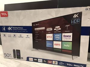 "50"" TCL 4K Roku Smart TV for Sale in Fountain Valley, CA"
