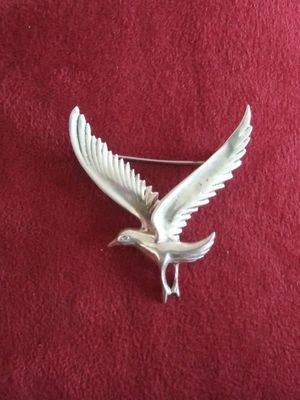Antiques.Vintage SEAGULL pin / brooch silver 9.25. .hard to find for Sale in Lincoln Acres, CA