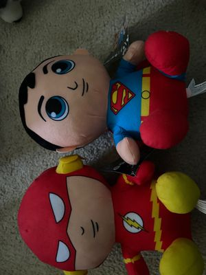 Superman and Flash Plushies for Sale in Chambersburg, PA