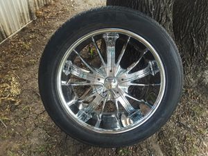 22 inch wheels rims 6 lugs Chevy and Ford for Sale in Lewisville, TX