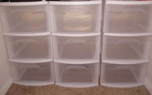 3.. 3 drawer plastic storage for Sale in Cleveland, OH