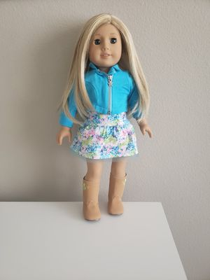 American girl doll like brand new blond hair blue eyes accessories for Sale in Winchester, CA