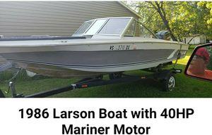 1986 Larson Boat with 40 HP Mariner Motor for Sale in Antigo, WI