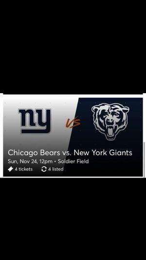 Bears Vs Giants for Sale in Joliet, IL