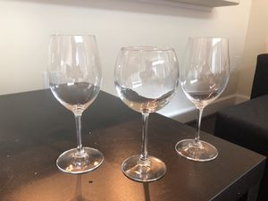 1 red wine glass & 2 chardonnay glasses. for Sale in Vienna, VA