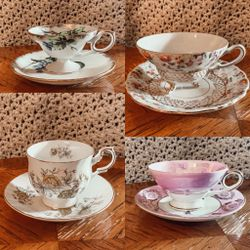 Set Of 12 Individual Matching Tea cup + Saucer for Sale in Oceanside,  CA