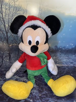 "Mickey Mouse Disney Christmas Holiday Mickey Mouse Plush Toy 19"" for Sale in Lakewood, CA"