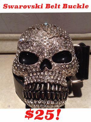 Oversized Skull Swarovski Belt Buckle $20! JUST REDUCED for Sale in Midlothian, IL