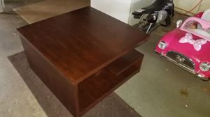 3 foot square Coffee Table with extra shelving Very Nice for Sale in Indianapolis, IN
