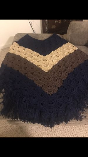 Hand made crochet poncho for Sale in Harpers Ferry, WV