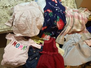 0M-9M Baby Girl Clothes & Size newborn & 1 diapers for Sale in Tempe, AZ