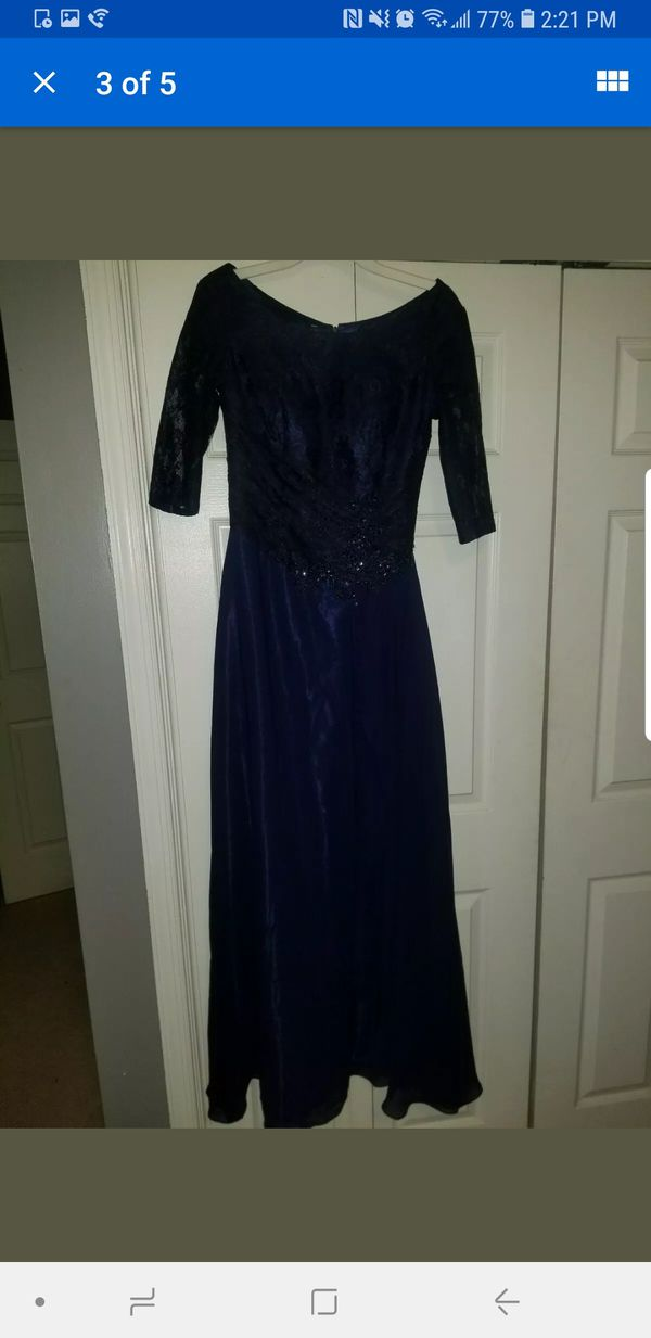Size small gown beautiful wedding navy blue brand new