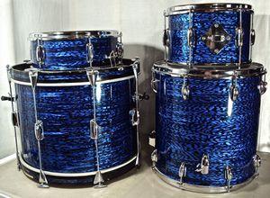 Vintage 1960's Slingerland Drum Set Blue Agate for Sale in Novi, MI