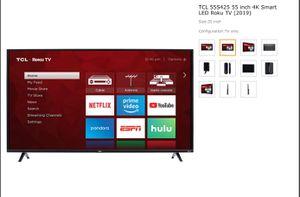 TCL 55 inch Roku Smart TV w/ full swivel mount for Sale in Denver, CO
