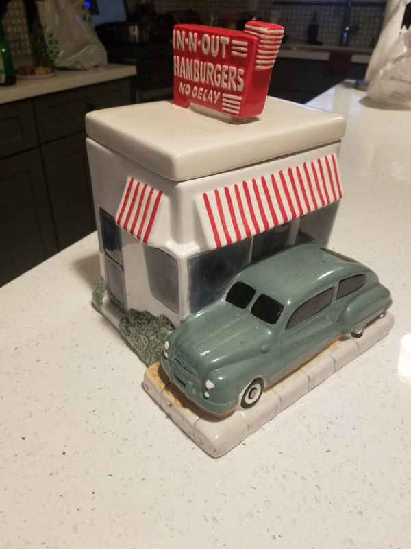 In n Out Burger classic cookie jar rare