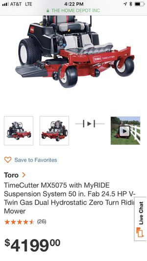 Brand new toro 50 inch riding lawn mower for Sale in Buford, GA