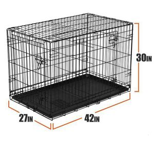 "Vibrant Life Double-Door Folding Dog Crate with Divider, Large, 42""L New In Box for Sale in Austin, TX"