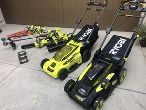 Ryobi 40V cordless lawn mower,weed eater,hedge trimmer,leaf vac,chainsaw,blower,NEW! for Sale in San Diego, CA