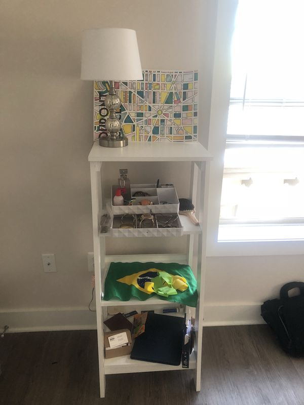 White unique modern bookcase or storage