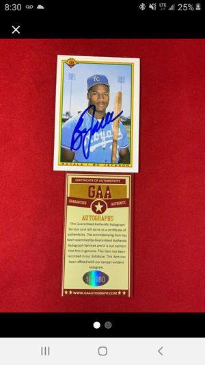 BO JACKSON Signed K.C. Royals baseball card for Sale in Columbus, MS