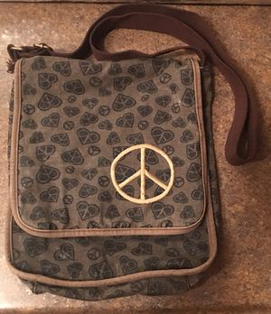 Peace Sign / Hearts Pattern Crossover Messenger Bag for Sale in Fox Lake, IL