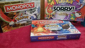 3 pokemon board games for Sale in Glenwood, OR