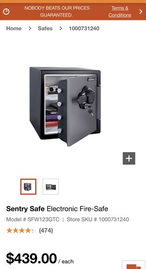 Sentry safe. Large capacity. Fire and water resistant for Sale in Redlands, CA