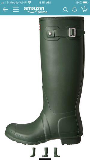 Hunter Women's Original Tall Rain Boots - Hunter Green Matte Size 9 for Sale in Sterling Heights, MI