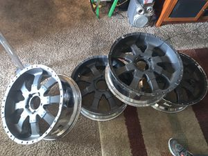 Chrome 22's with rubber paint(able to peel off) for Sale in Renton, WA