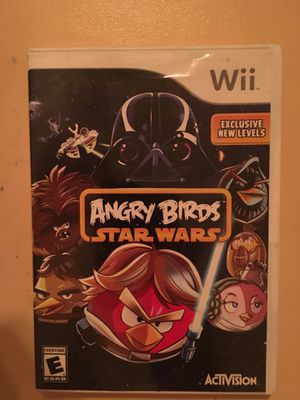 Nintendo Wii angry birds Star Wars for Sale in Visalia, CA
