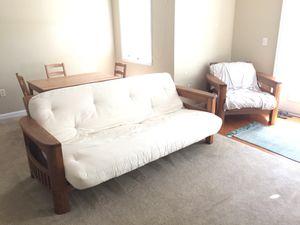 Portofino Hard Wood Futon & Futon Chair for Sale in Orlando, FL