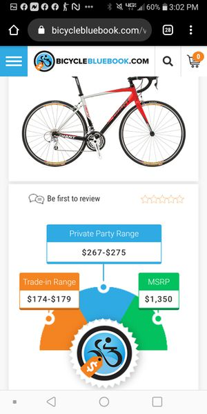 (EDITED)GIANT defy 1 bike aluxx 6000 series butted tubbing for Sale in Tampa, FL