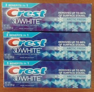 Crest 3D white toothpaste $2.50 for Sale in San Jose, CA