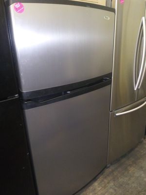 Whirlpool stainless steel top mount refrigerator for Sale in Cleveland, OH