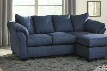 Darcy Blue Sofa Chaise VENDORASHLEY for Sale in Houston,  TX