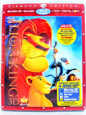 Lion King Diamond Edition DVD Blu Ray for Sale in Garland, TX