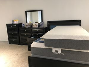 SALE! MONTECARLO BLACK INCLUDES DRESSER MIRROR AND NIGHTSTAND (FINANCING AVAILABLE) (SAME DAY DELIVERY) for Sale in Clearwater, FL