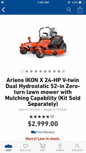 New Ariens 24-HP V-TWIN DUAL Hydrostatic 52-Inch Zero Turn lawn Mowers for Sale in Dallas, TX