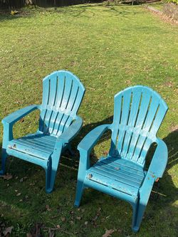2 Green Adirondack Chairs for Sale in Portland,  OR