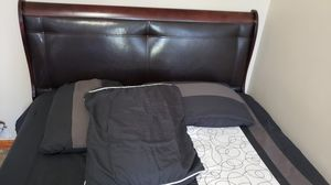 Queen Bed frame ,Table ,drawer, closet for Sale in Brooklyn, NY