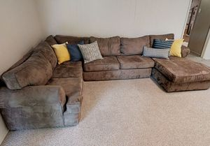 Microsuede sectional couch for Sale in Shoreline, WA