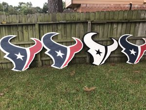 Texans logo made out of plywood over 4ft wide for Sale in Houston, TX