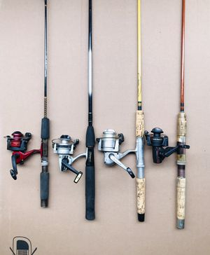 4 Fishing Rods with Reels for Sale in Glendale Heights, IL