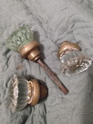 Brass and crystal antique door knobs for Sale in Frankford, MO