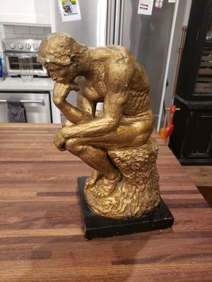 """16"""" unique the thinker man statue home decor sturdy for Sale in Los Angeles, CA"""