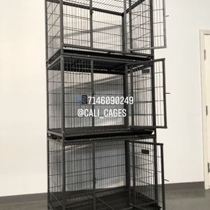 Triple Stackable Dog Pet Cage Kennel Size 37 Medium New In Box 📦 for Sale in Chino, CA
